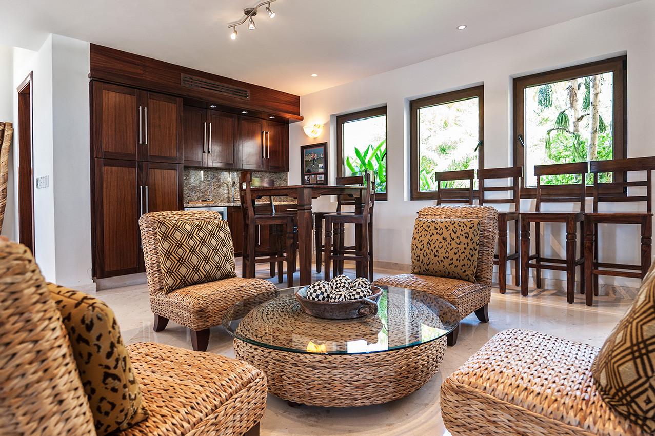Game Room Sitting Area - Punta Mita Villa For Rent - Casa Joya Del Mar