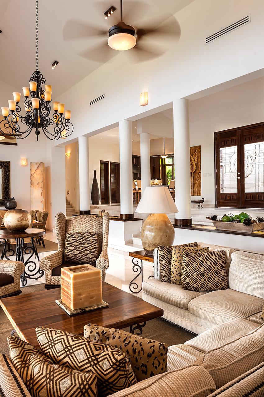 Living Area - Punta Mita Villa For Rent - Casa Joya Del Mar