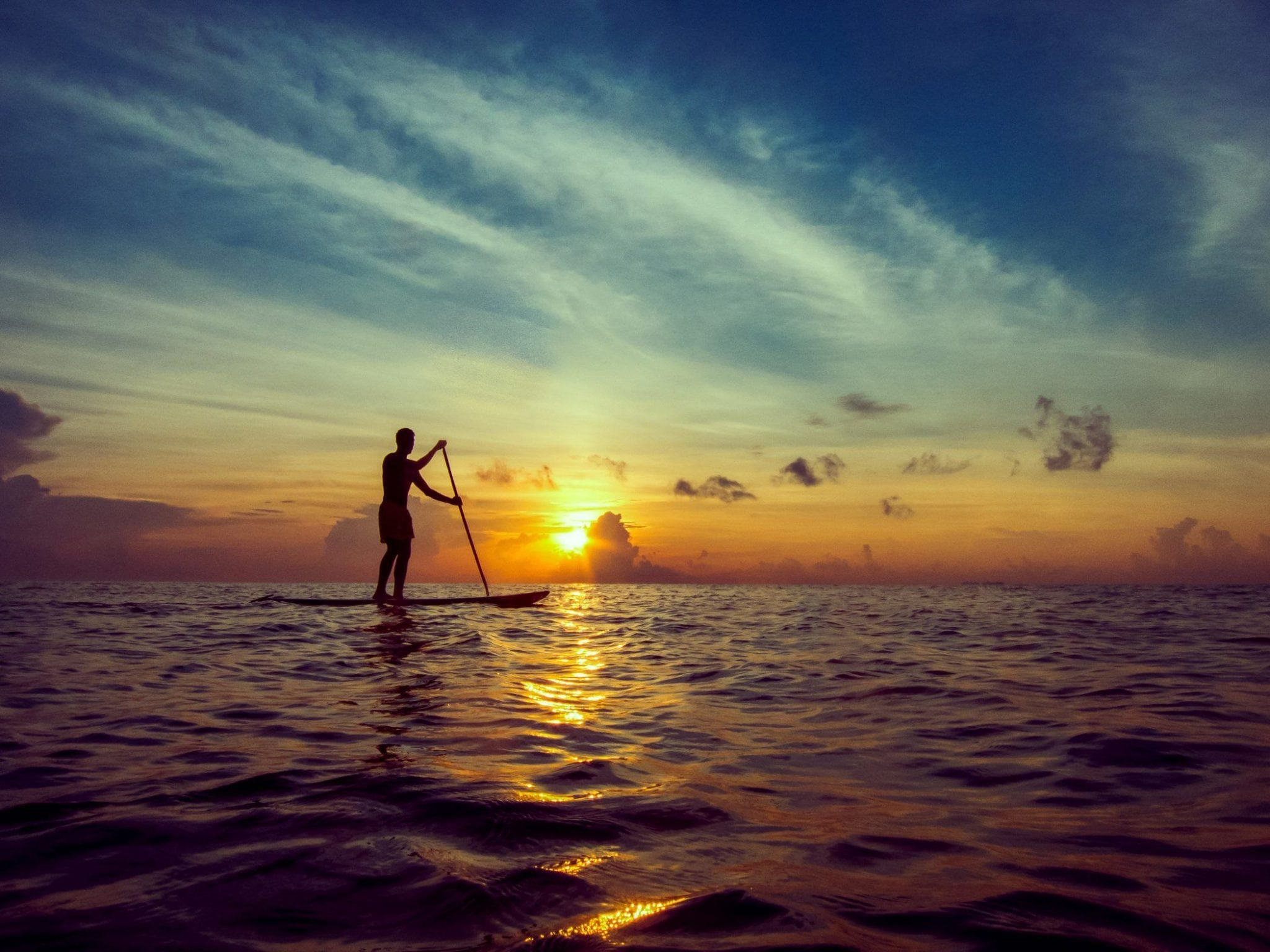 Paddleboard At Sunrise