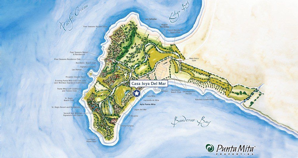 Detailed Map - Luxury Vacation Rentals - Casa Joya Del Mar