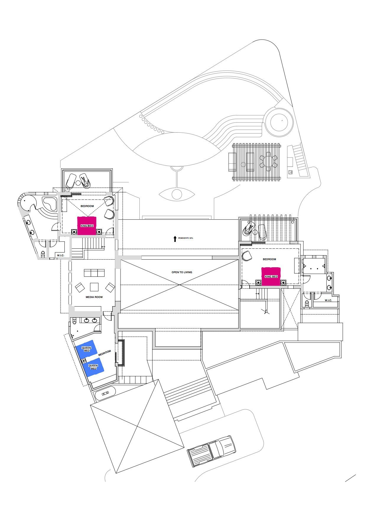 Floor plan punta mita vacation rental house casa joya for Rental property floor plans