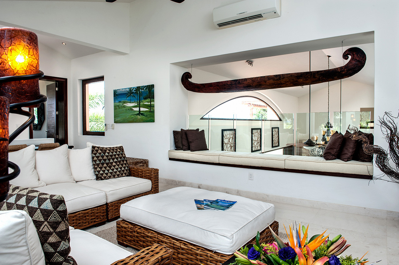 TV Room Sitting Area - Punta Mita Villa For Rent - Casa Joya Del Mar