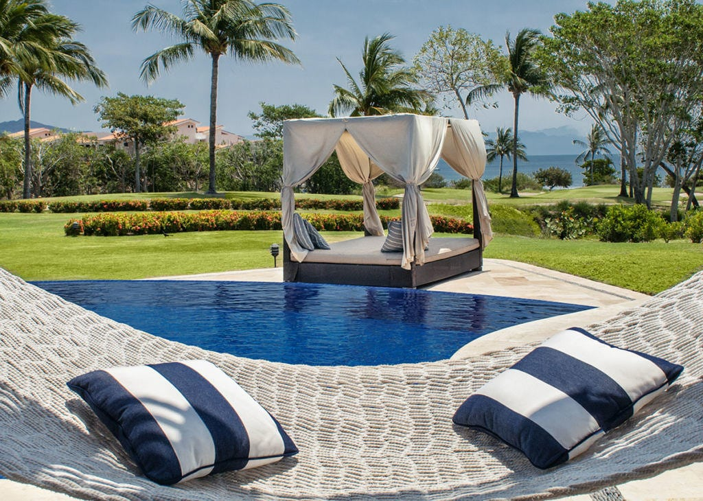 Poolside Day Bed View - Punta De Mita Mexico - Casa Joya Del Mar