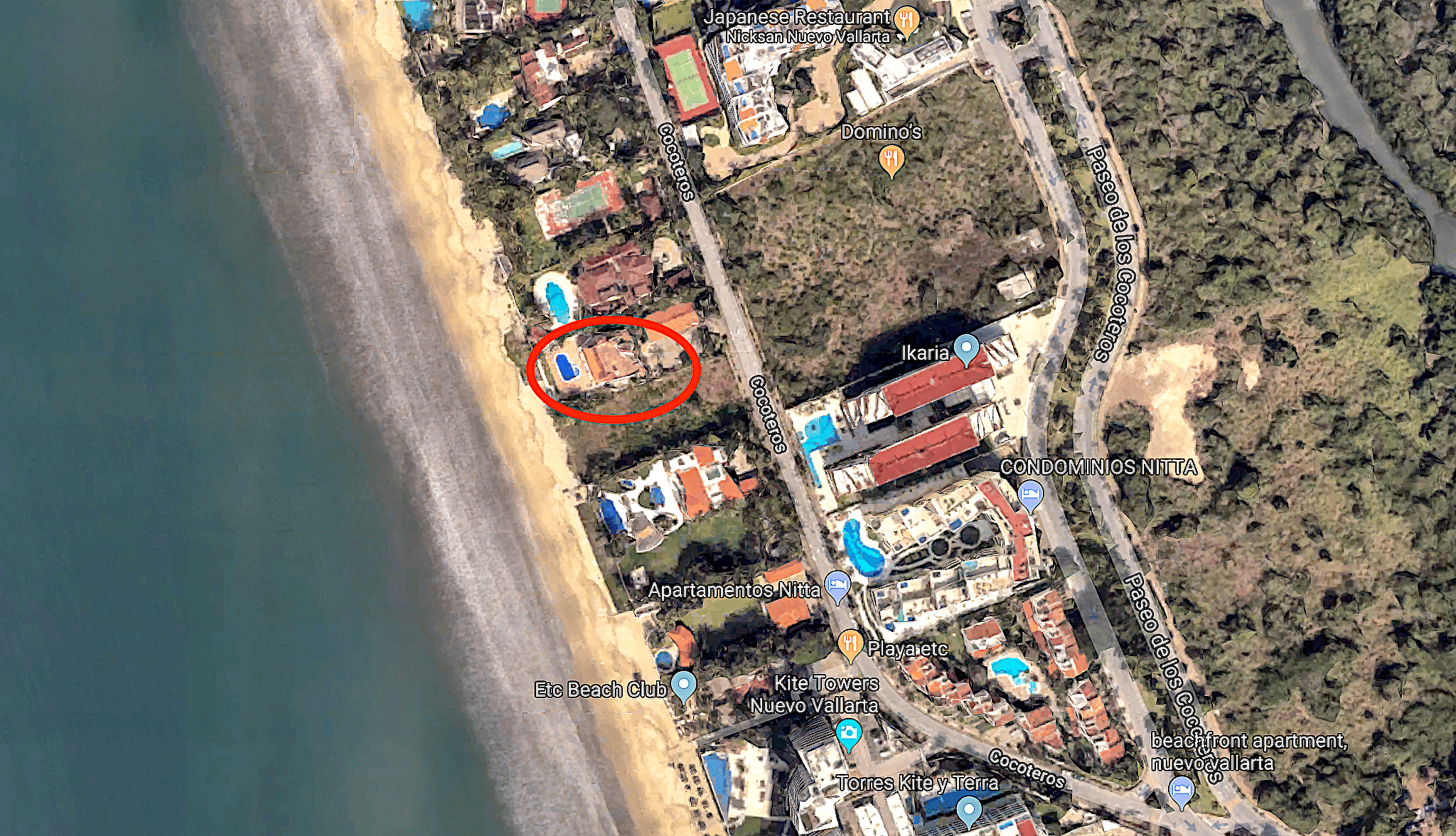 The Beach House Location